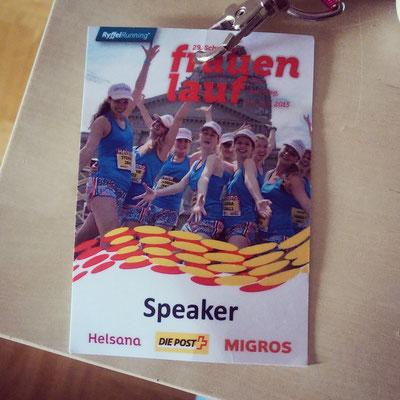 Moderation Schweizer Frauenlauf 2015