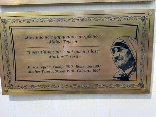 Mutter Teresa stammt von hier