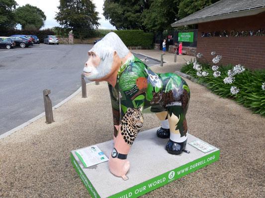Vor dem Zoo von Jersey