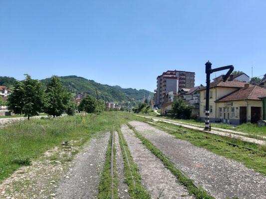 Gleise am alten Bahnhof Kacanik