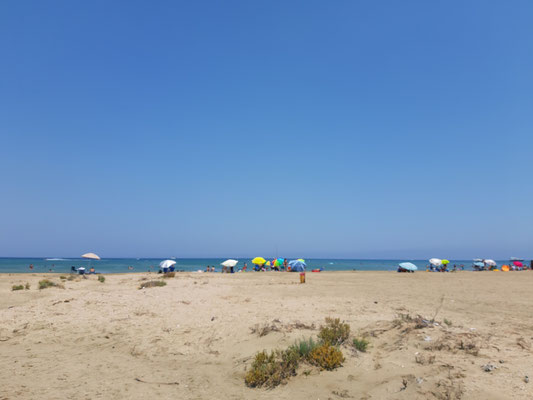 Am Strand  in Akrotiri