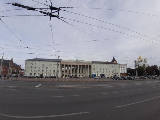 Fassade des Nordbahnhofs, Kaliningrad