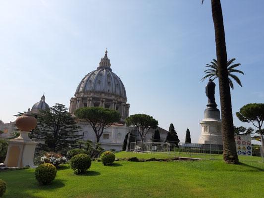 Petersdom von den Gärten aus