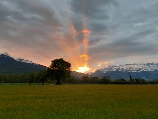 Sonnenuntergang von Jugendherberge aus