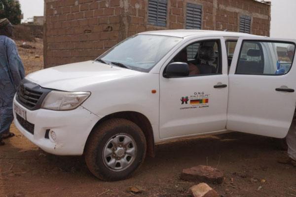 Auto der Mali-Hilfe