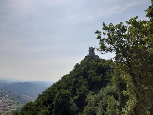 Oben auf dem Monte Titano