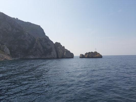 Mit dem Schiff von Agios Pavlos nach Kafsokalivion