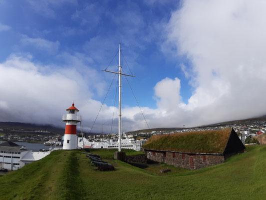 Leuchtturm an der Festung Torshavns