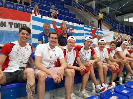 Mit den Fans aus Luxemburg