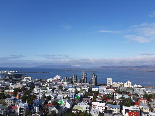 In Reykjavik, Blick vom Kirchturm