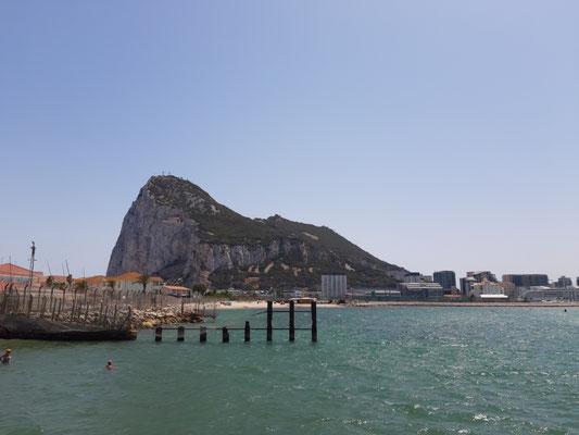 Blick zurück nach Gibraltar