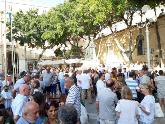 Mahnwache für Daphne Caruana Galizia