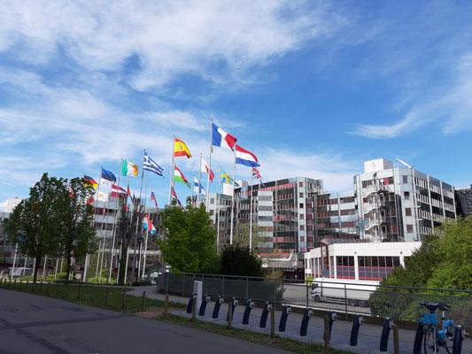 Ein Gebäude des EU-Parlaments