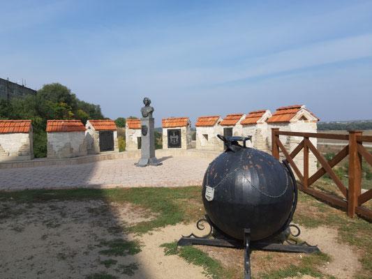 Münchhausens Kanonenkugel im Fort Bender