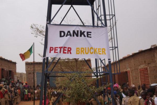 Brunnen, der mit Unterstützung der Mali-Hilfe gebaut wurde