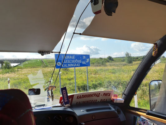 Im Bus von Riga nach Kaliningrad