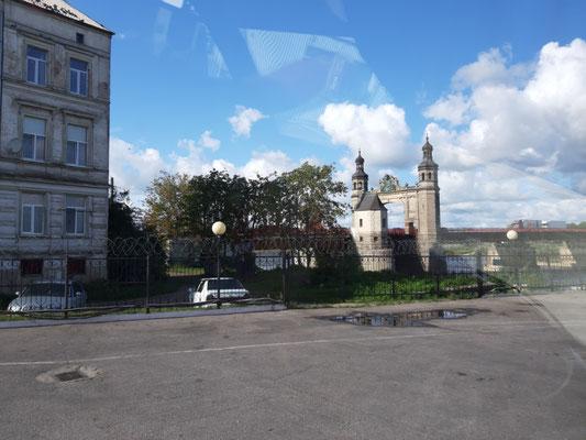 Blick zur Königin-Luise-Brücke über die Memel in Sowjetsk (Tilsit)