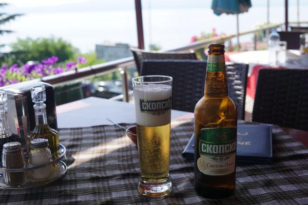 Pause am Ohrid-See