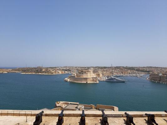 Blick von den oberen Barrakka Gärten, Valletta