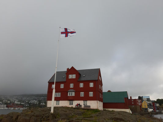 An der Spitze der Altstadt Torshavns