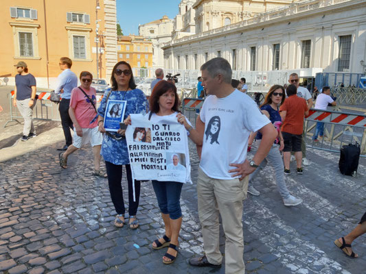 Unterstützer der Familie von Emanuela Orlandi