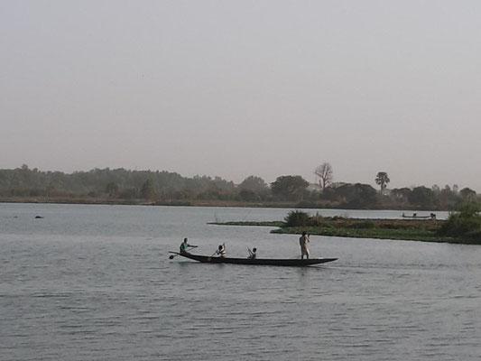 abends am Niger in Bamako