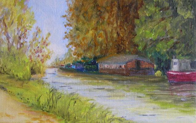 Sur les rives de l'Yonne - 22x14