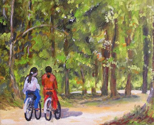 Promenade à vélo  - 23x19