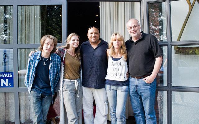 mit David Bonk, Yvonne Catterfeld, Fontaine Burnette+Frau