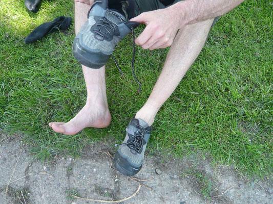 Die Füße fingen an zu dampfen ...