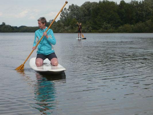 ...und auf dem See alleine und...