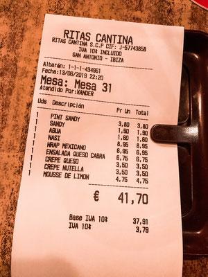 Ibiza Sant Antoni Rita's Cantina