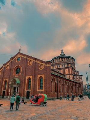 Kirche Abendmahl Mailand