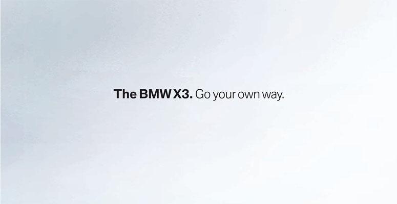 DerBMWX3. Für Ihren eigenen Weg.