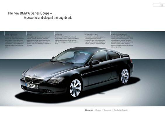 Das neue BMW 6er Coupé – Reinrassig, sportlich, elegant.