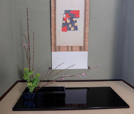 河本珠実 桃 菜の花