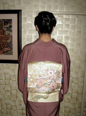 主宰 水谷雅由 鳳凰袋帯