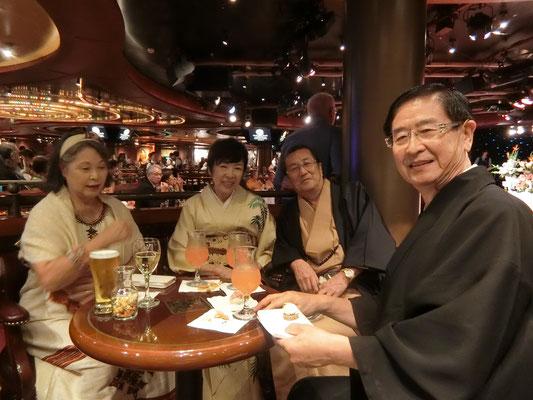 仁木ご夫妻と船長パーティー