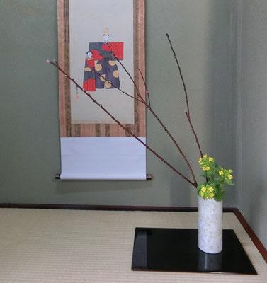 河本珠実 花桃 菜の花