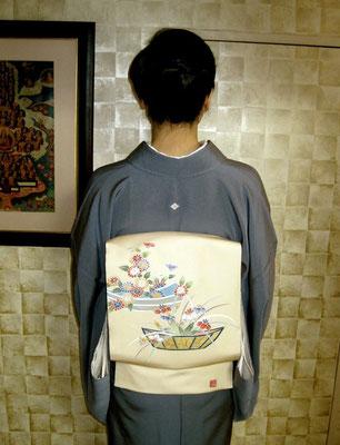 主宰 水谷雅由 十六枚菱菊(茶道雅流紋)