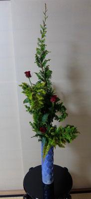 河本珠実 孔雀檜葉 バラ