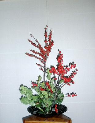 塩谷珠里 菜の花 アストロメリア ドラセナ