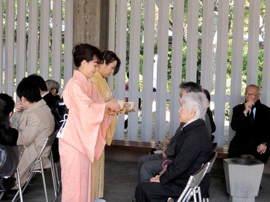 中本雅水 太田恵子 御運び
