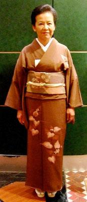 川上栄子 十薬訪問着