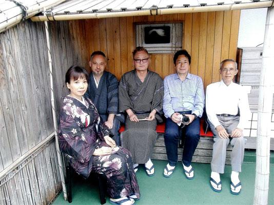 腰掛け 五名客 3客金井氏(韓国釜山支部長)