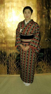 主宰 水谷雅由 久留米絣 博多帯
