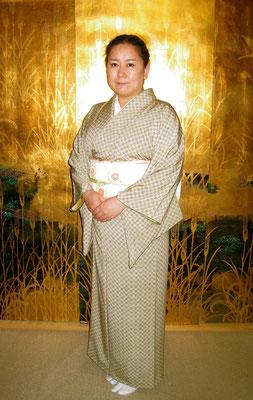 松尾雅雪 江戸小紋市松模様
