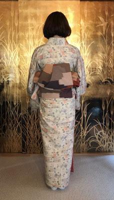 亜紀さんのは公恵さんが結びました。(片ひだ銀座結び)