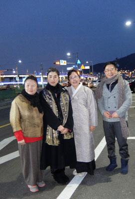 松島で茶道雅流記念撮影