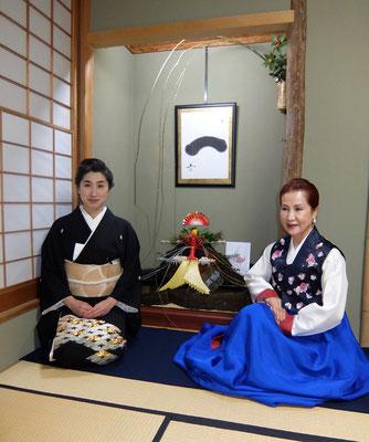 水谷雅由と李瑛子先生